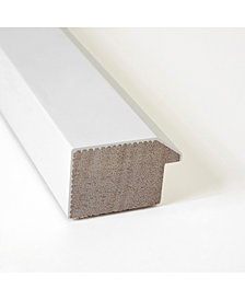 Amanti Art Blanco White 40x28 Framed Black Cork Board