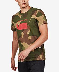 G-Star RAW Men's Camo Logo T-Shirt
