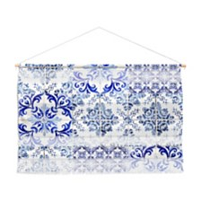 "Deny Designs Ingrid Beddoes Portuguese Azulejos Wall Hanging Landscape, 47""x34"""