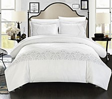 Sophia 7 Pc King Duvet Set