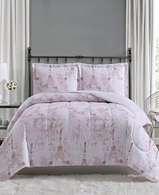 Paris 3-Pc. Full/Queen Comforter Mini Set, Created for Macy's