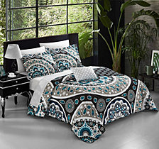 Chic Home Lacey 8 Pc Duvet Set Collection