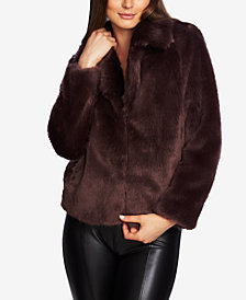 1.STATE Faux-Mink Coat