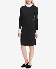 Lauren Ralph Lauren Layered-Look Ponté-Knit Shift Dress