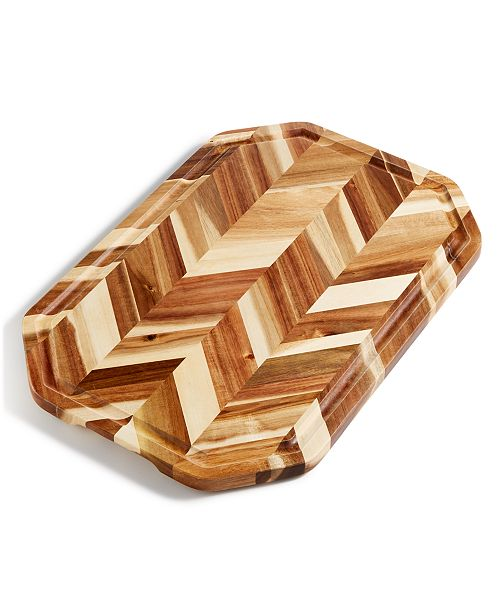 "Martha Stewart Collection Herringbone 19"" x 13"" Cutting Board, Created for Macy's"