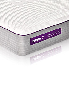 "Purple .2 11"" Firm Mattress- King, Quick Ship, with Adjustable Base"