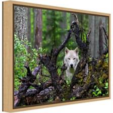 Amanti Art Wolf by Mike Centioli Canvas Framed Art