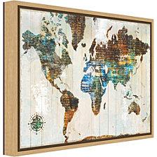 Amanti Art World of Wonders by Sue Schlabach Canvas Framed Art