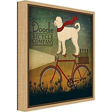 Amanti Art White Doodle on Bike Summer by Ryan Fowler Canvas Framed Art