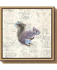 Into the Woods V Squirrel by Emily Adams Canvas Framed Art