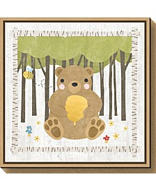 Woodland Hideaway Bear by Moira Hershey Canvas Framed Art