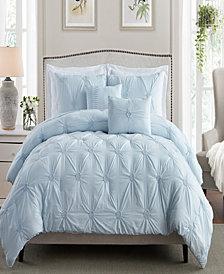 Floral Pintuck King/Cal King Comforter Set