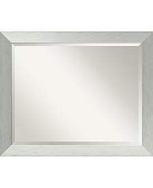 Brushed Sterling 32x26 Bathroom Mirror