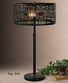 Alita Black Drum Shade Lamp