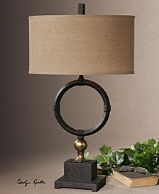 Pueblo Black Circle Table Lamp