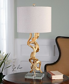Uttermost Twisted Vines Gold Table Lamp