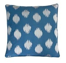 "Deniz Metallic Ikat Embroidered Pillow, 20"" x 20"""