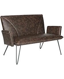 Johannes Mid Century Modern Leather Settee