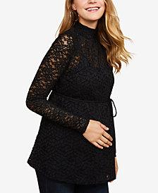Jessica Simpson Maternity Lace Mockneck Top