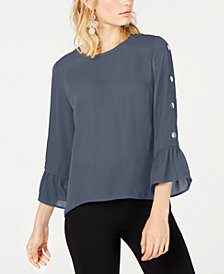 NY Collection Petite Bell-Sleeve Top