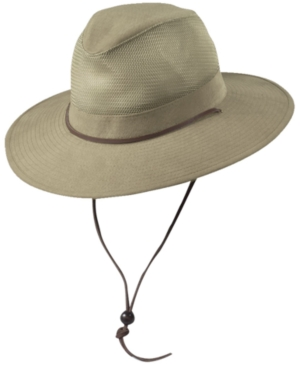 Dorfman Pacific Men's Brushed Twill Safari Hat