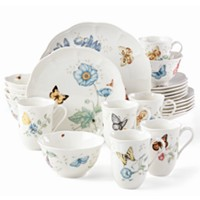 Deals on Lenox Butterfly Meadow 24-Pc Dinnerware Set, Service for 6