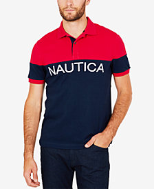 Nautica Men's Logo-Print Polo