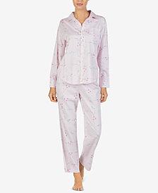 Lauren Ralph Lauren Printed Point-Collar Pajama Set