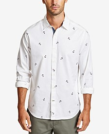 Men's Mini Anchor-Print Shirt