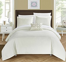 Bea 4 Pc Queen Duvet Cover Set