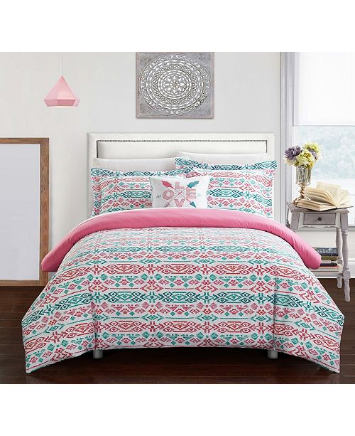 Chic Home Malina 3 Pc Twin Duvet Cover Set