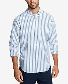 Nautica Men's Blue Striped Shirt