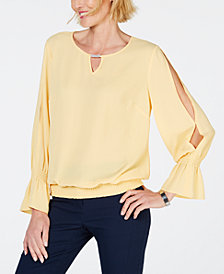 JM Collection Embellished Keyhole Blouse, Created for Macy's