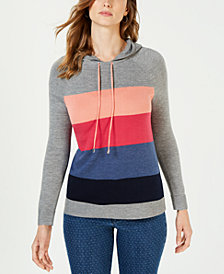 Charter Club Colorblocked Sweater Hoodie, Created for Macy's