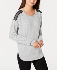 I.N.C. Soft Knit Metallic-Trim Pajama Top, Created for Macy's