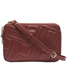 DKNY Allen Leather Crossbody, Created for Macy's