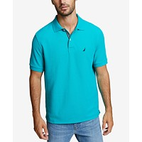 Nautica Men's Classic Fit Performance Deck Polo (Gulf Costa Teal)