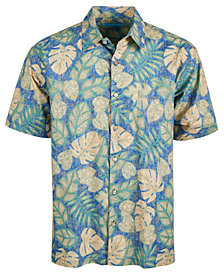 Tori Richards Men's Henna Leaves Printed Hawaiian Shirt