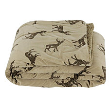 Deacon Deer Printed Micromink Decorative Throw
