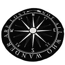"DNU - Colleen Compass Printed Fleece Decorative Throw, 60"""