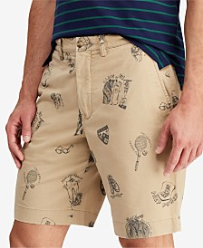 Polo Ralph Lauren Men's Big & Tall Collegiate Print Stretch Chino Short