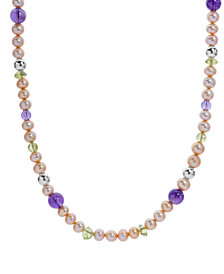 Carolyn Pollack Golden Freshwater Pearl and Gemstone Necklace