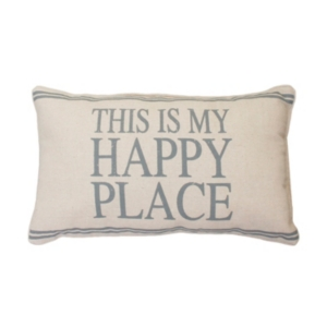 Dnu - Thro Polyester Fill Tricia This Is My Happy Place Pillow, 12