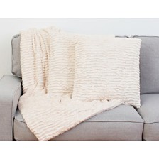 Thro Rachel Ruffle Pillows and Decorative Throw Set, Pack Of 2