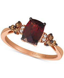 Le Vian® Rhodolite Garnet (1-3/4 ct. t.w.) & Diamond (1/5 ct. t.w.) Ring in 14k Rose Gold