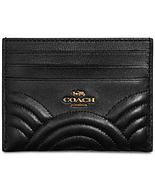 COACH Deco Quilting Flat Card Case