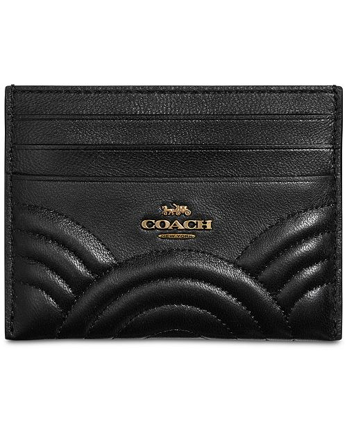f1af141babcf COACH Deco Flat Card Case in Quilted Leather   Reviews - Handbags ...