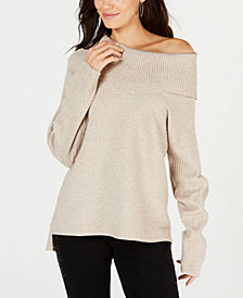 Style & Co Oversized Cowl-Neck Sweater, Created for Macy's