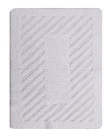Diagonal Racetrack 17x24 Cotton Bath Rug