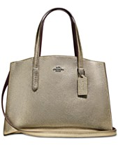 eb1f7a42b484 COACH Charlie Medium Carryall in Pebble Leather